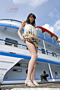 Kaylee up skirt flashing for camera