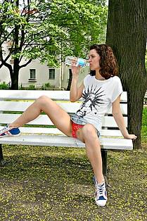 Lara on amateur up skirt pix