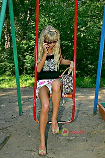 Peeing upskirt in the park