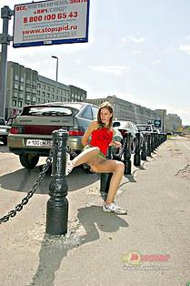 High quality upskirt of Russian girl