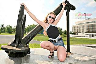 Dariana on up skirt fetish photos