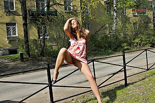 Oops upskirts of pretty girl Zhenya