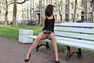 Dasha upskirts naked legs outdoors