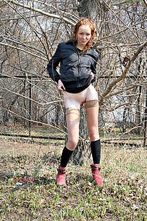 Redhead hq upskirt model Sasha