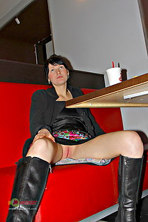 Under table upskirt hq from Milla