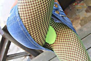 Marianna hot pantyhose upskirt