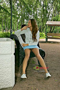 Teen upskirts on the playground