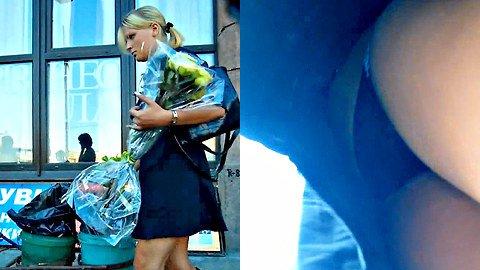 Gorgeous blonde upskirt HQ video