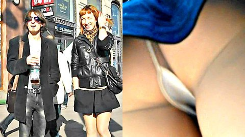 Stunning redhead upskirt HD video