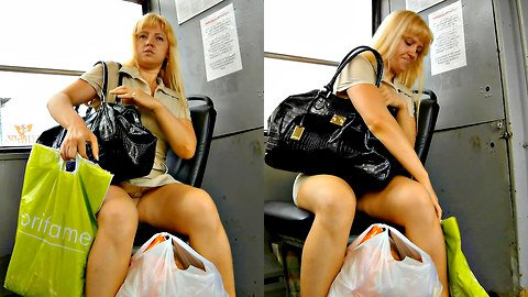 Awesome sitting upskirt on a bus