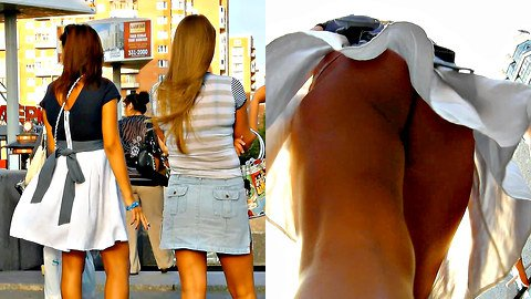 The best summer outdoor upskirt