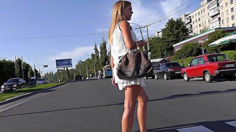 Girls upskirt spied in public transport