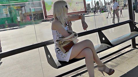 Panty wet upskirt caught in public