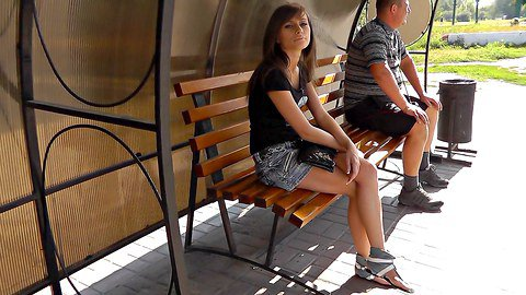 Hot upskirt seduction from cute amateur