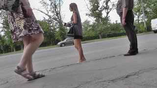 Video film filled with erotic upskirts